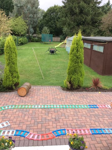 Large rear garden, great in the summer months.