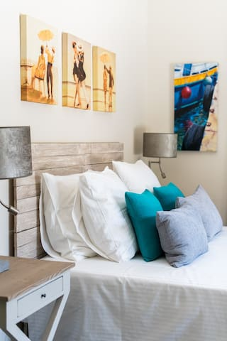 feather pillows and comfy bedding