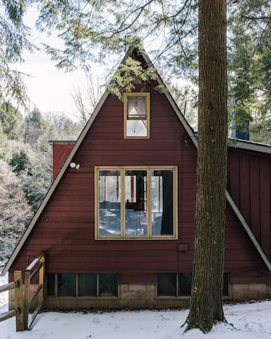 Creekside modernist A-Frame in the Catskills - East Meredith - House