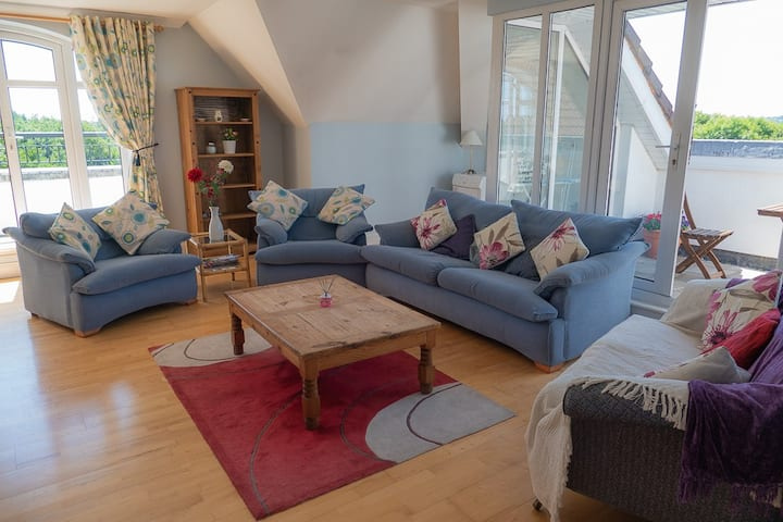 Spacious Penthouse Apartment overlooking Galway
