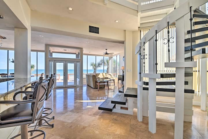 Oceanfront House by Ponce Inlet on No-Drive Beach!