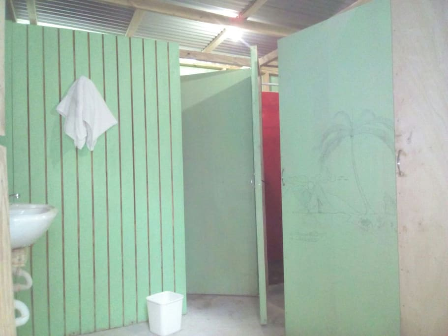 shared shower and wash facilities