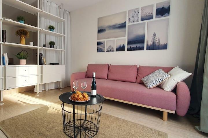 Cozy & bright apartment in Vilnius old town,Užupis