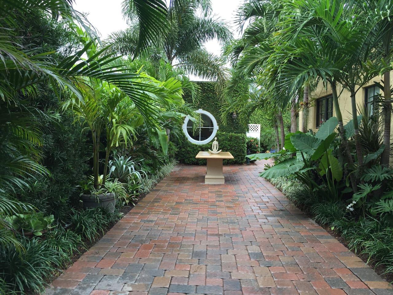Garden area leads to Cabana