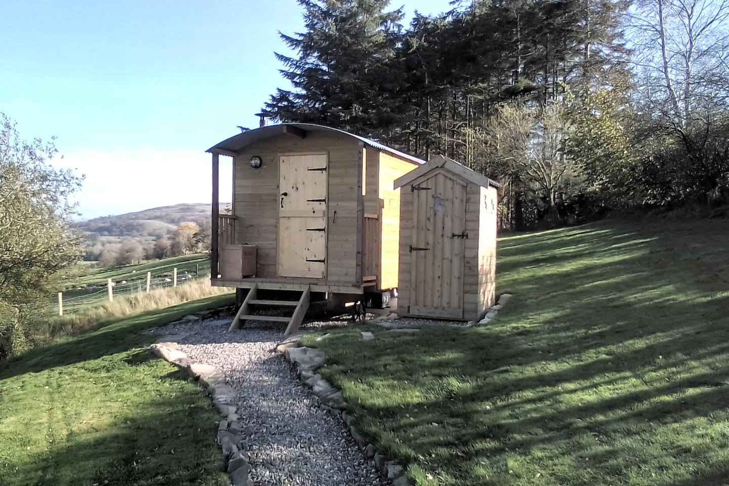 Unique space in a beautiful location close to Snowdonia national park totally off grid.