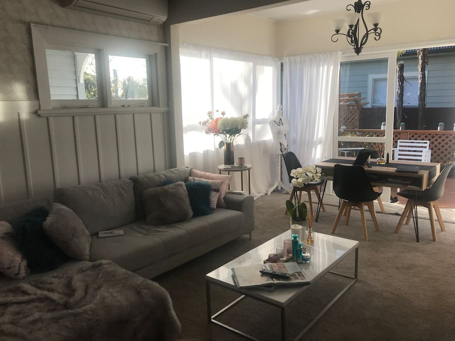 This is our lounge which you are more than welcome to relax in with us or on your own if we are not home:)
