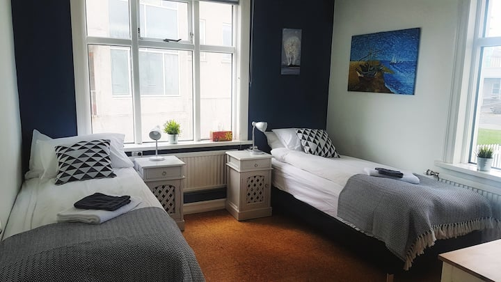 Great Double/Twin Room in Best Reykjavik Location!