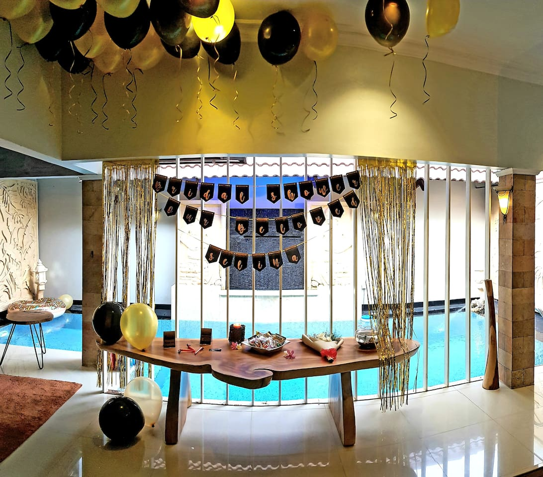 surprise parties can be arranged :)