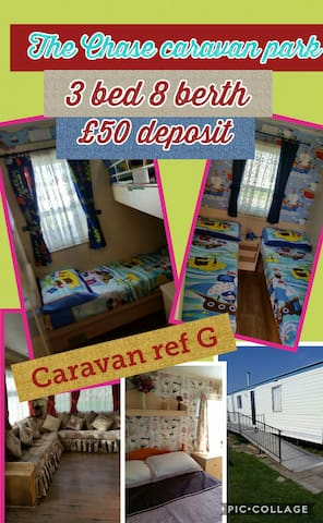 The Chase caravan park  - 3 bed caravan ref : G