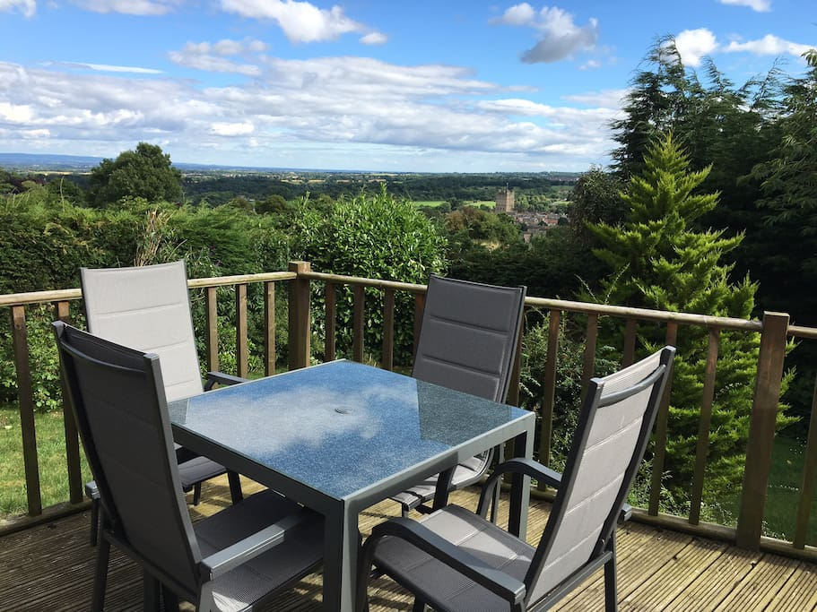 Guests can enjoy sitting on the deck or in the garden, enjoying the views.