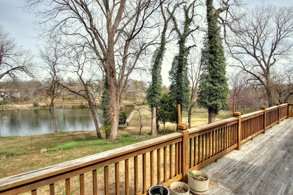 You can see the water from our full-length deck.