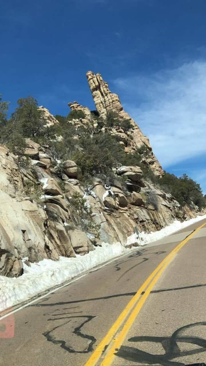 Steeple of boulders