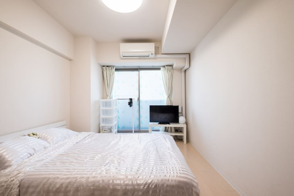 Bed and Living room/Television, Wi-fi, Air conditioner