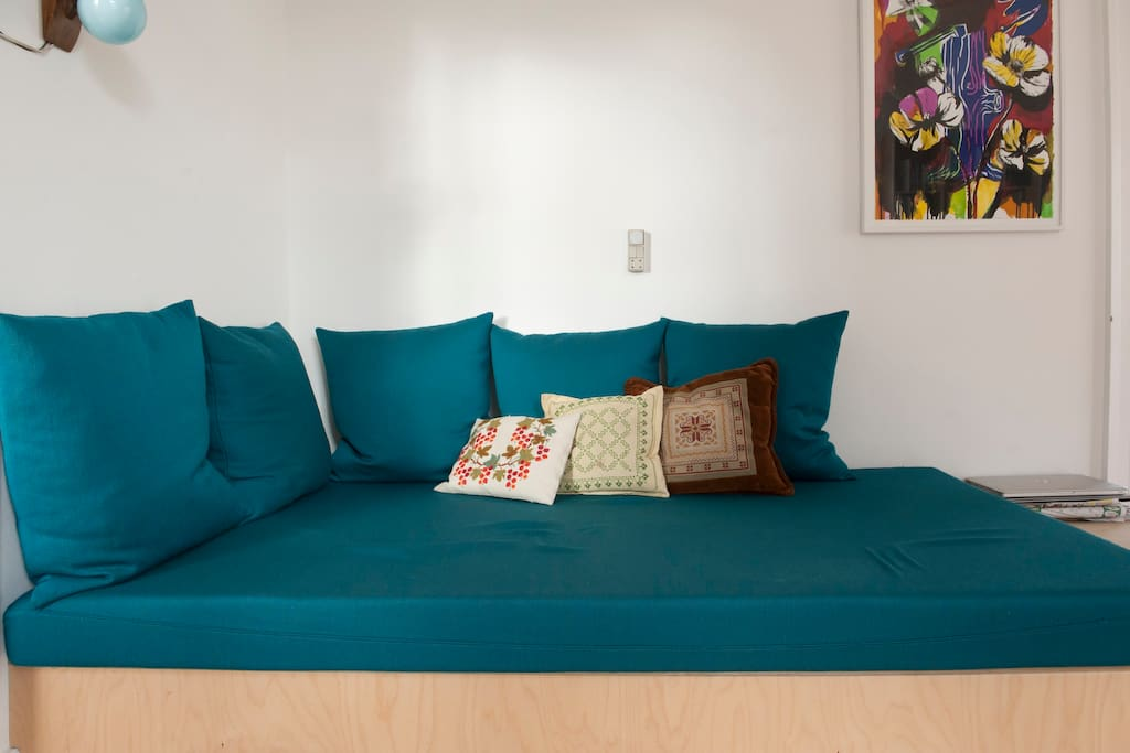 Home-built sofa in the livingroom