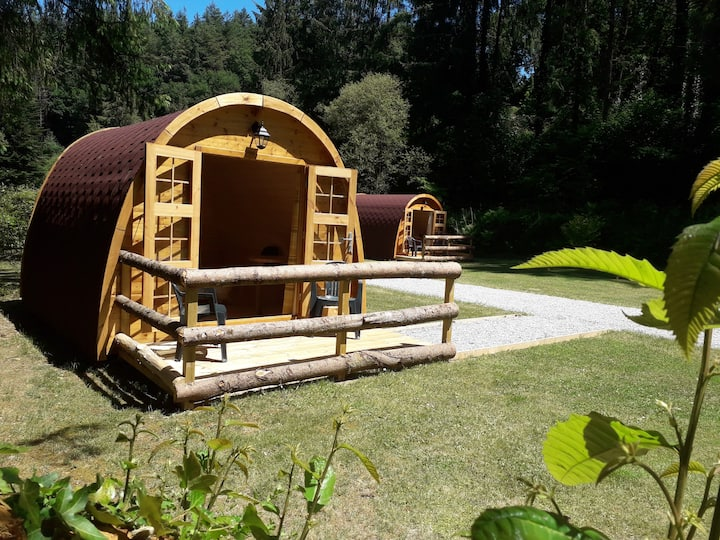Glamping Pods/Huts in a woodland setting -Ava