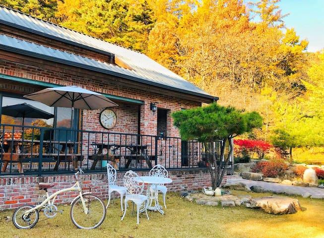 [충주] 수안보 벧아인펜션 (1층만사용) AHIN HOUSE