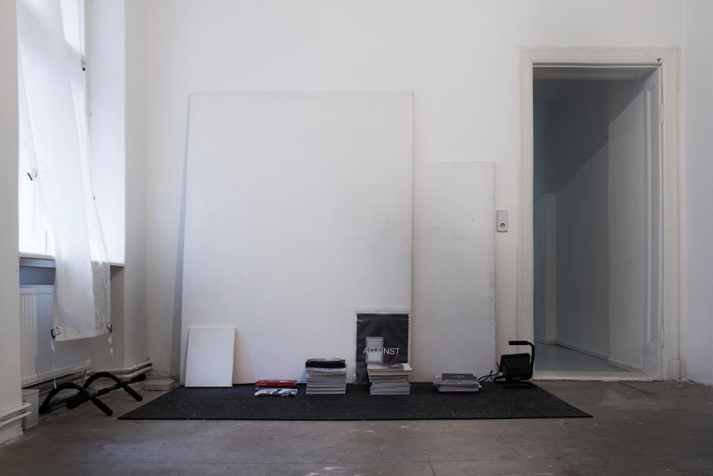 the living room/ study.