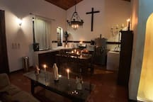 The Convent: The kitchen is large and stocked to take care of your group.