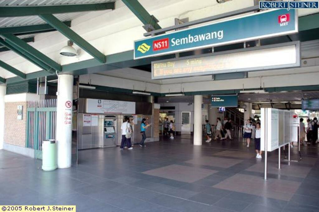 Sembawang MRT station - 0.4km away