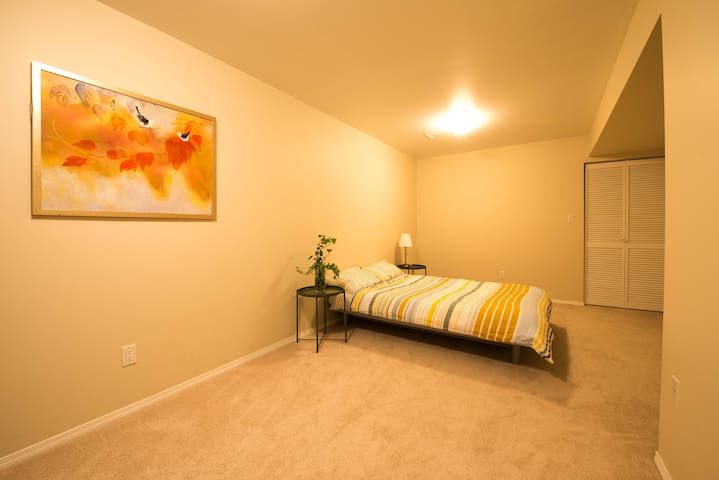 On the first floor,This room don't have window ,but it is a big room , Can add a float air bed.