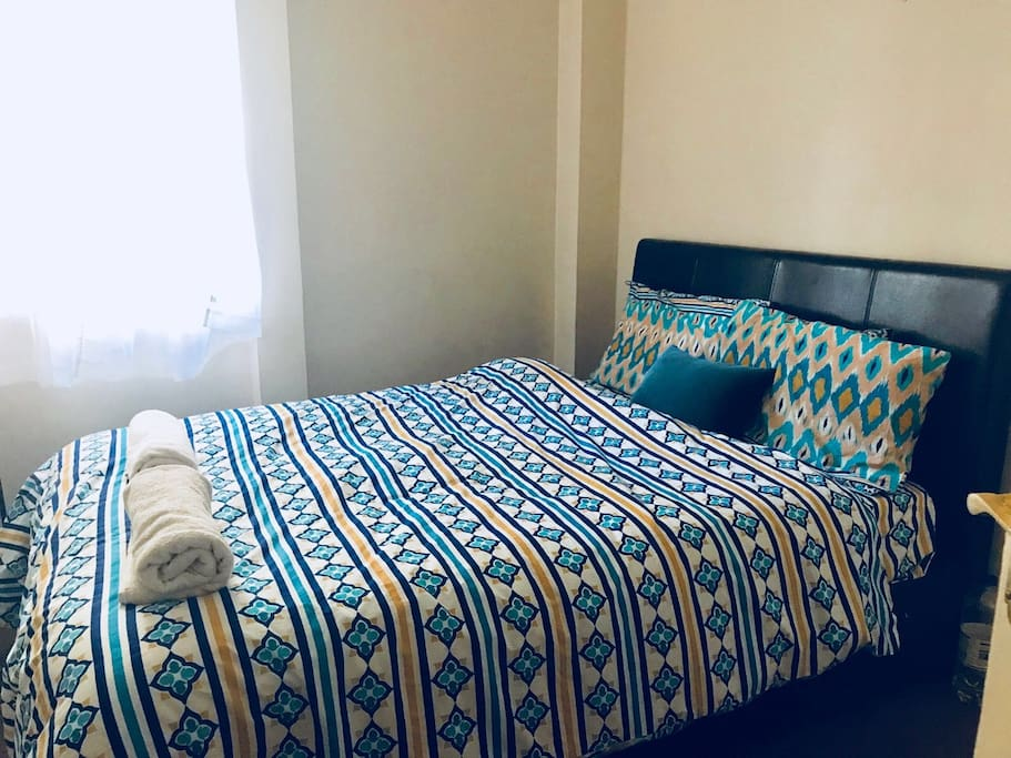 Double bed with separate bathroom