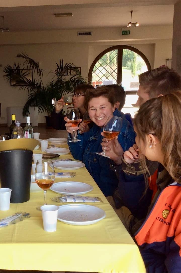Tasting international award wining wines