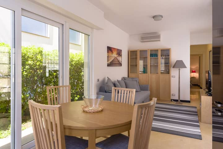 New 95sqm Sunny Flat with Garden 100m from Sea #A1