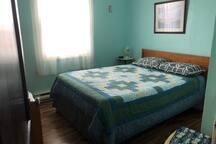 Bedroom #3 overlooking Slope's Run (the Atlantic Ocean).