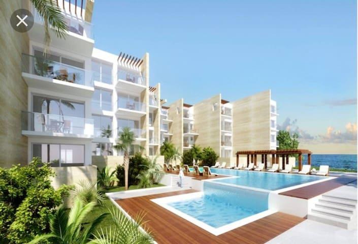 bel appartement vue sur mer et piscine( Sablette)