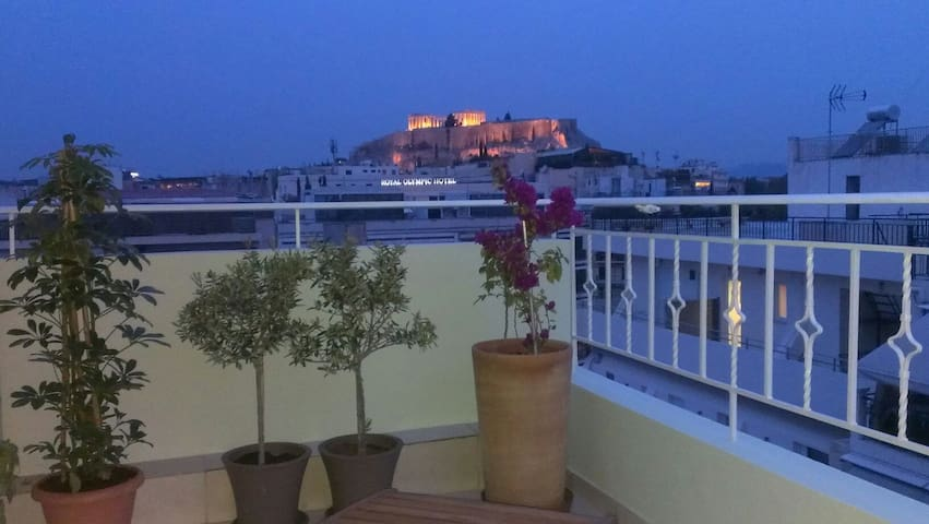 View of Acropolis from your bed!