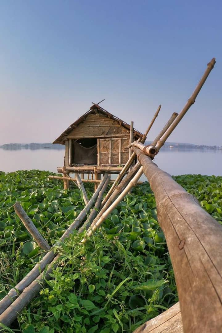 a watch hut to prevent the next pond guy