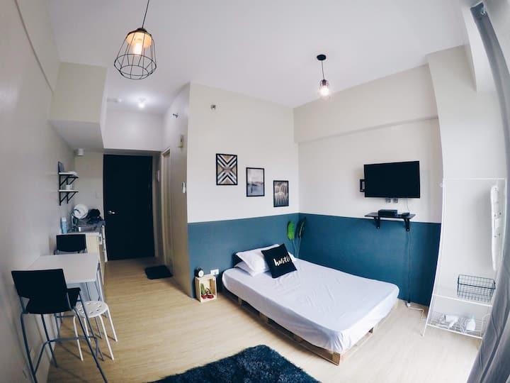 Newly furnished  Studio Rivergreen Sta.Ana Manila