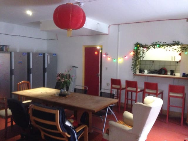 Double room in sociable warehouse community