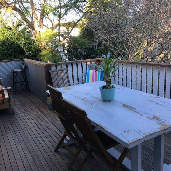 Deck with tropical outlook