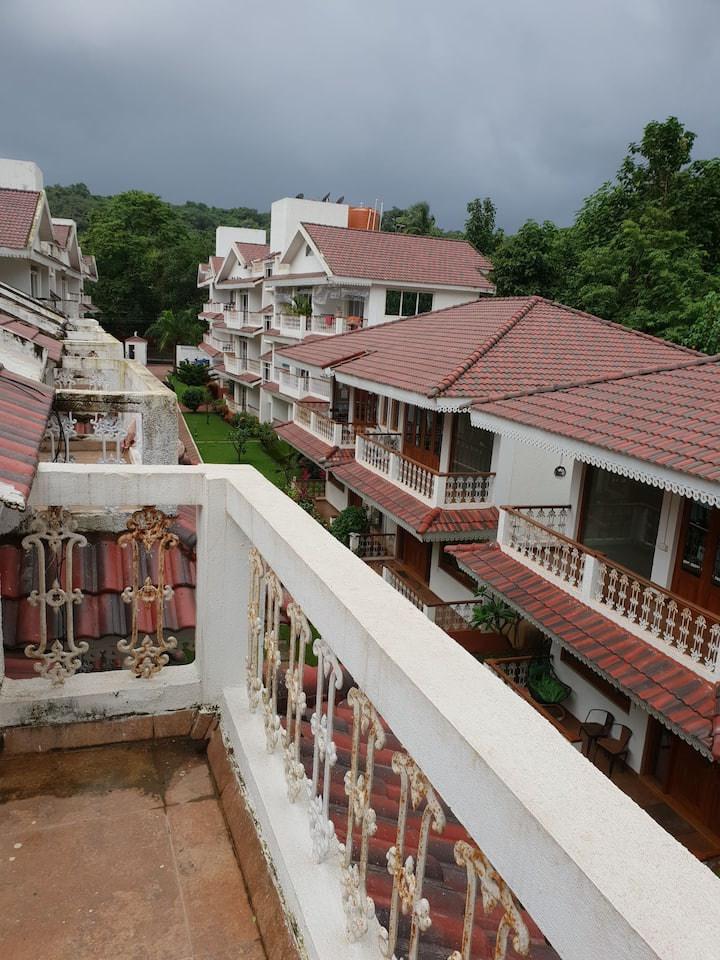3BHK Villa furnished private terrace/shared pool