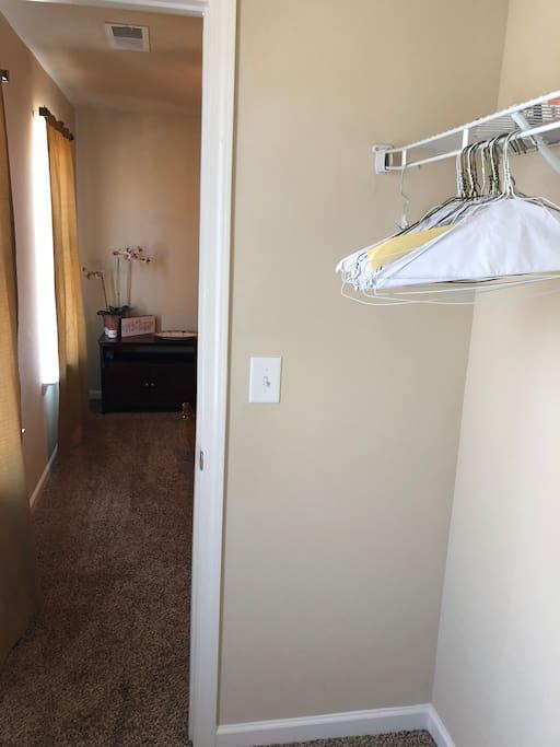 Guest walk in closet.