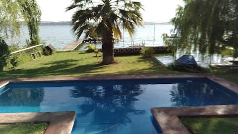 Lago Rapel, orilla, privado, piscina, tranquilidad