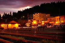 Downtown Truckee by night