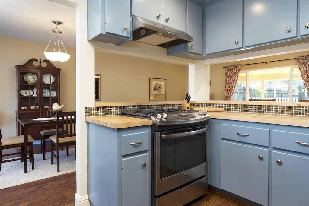 Kitchen open to living areas