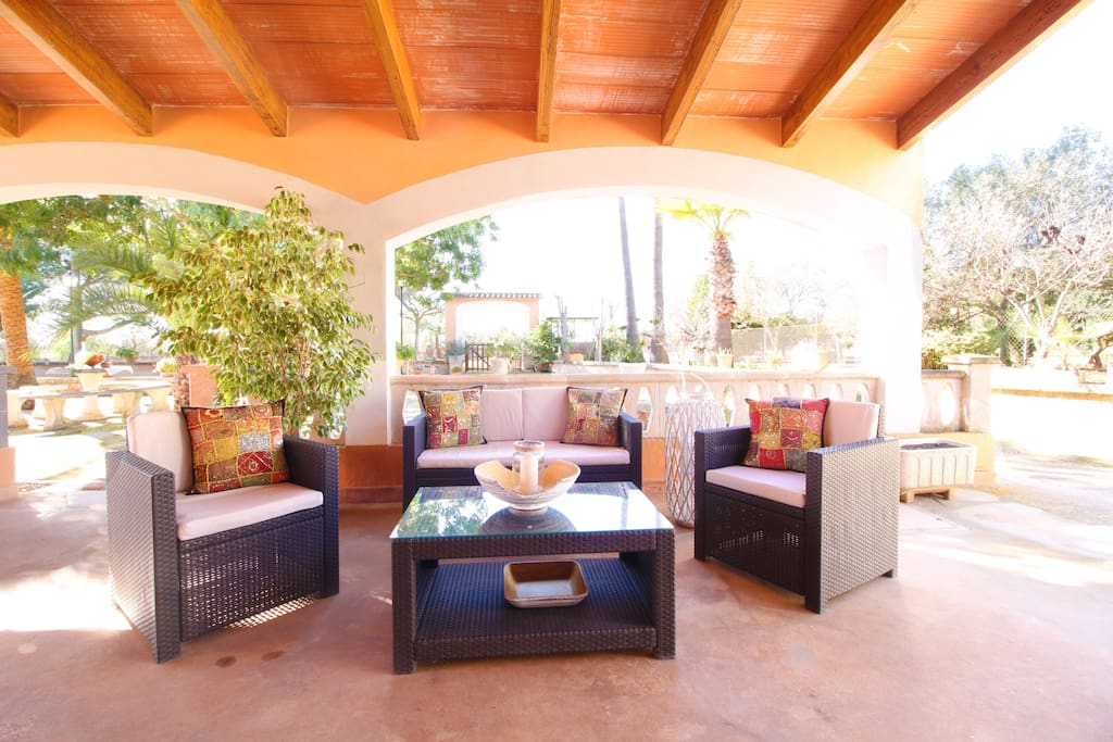 Cozy terrace, perfect for lovely afternoons and evenings.