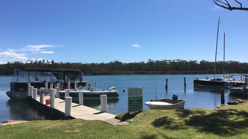 Laguna lodge private jetty & boat moorings.