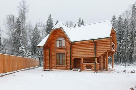 Новый двухэтажный деревянный дом - Елизаветинка