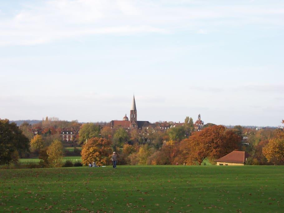 Enjoy a stroll in nearby Hampstead Heath