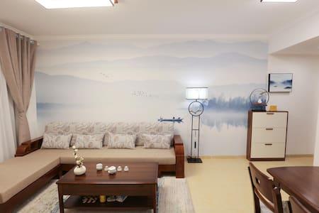 【悠家】[寄•海]临海小区|鱼鳞州|近东方站|观海阳台|新中式风|两室一厅|海景度假公寓