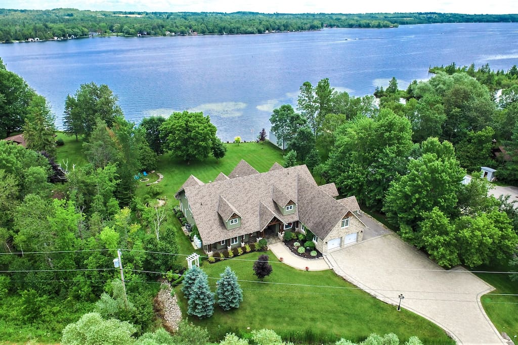 Aerial Front View of House