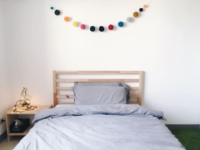 舒適安靜 公寓單人房 Single big bed in charming apt - Xindian District - Apartment