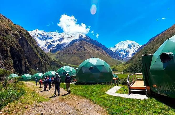 Humantay Lake Salkantay Trek by sky domes