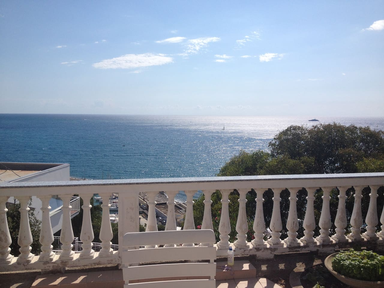 View of the ocean from the terrace
