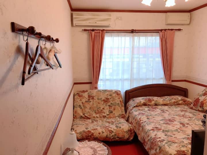 5 min, walk to JR Hakodate St, Double Room