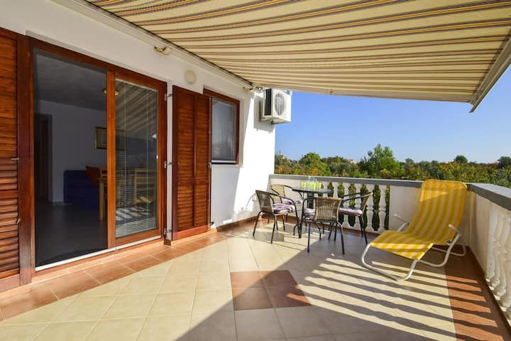 One bedroom apartment with terrace Drage, Biograd (A-17392-a)
